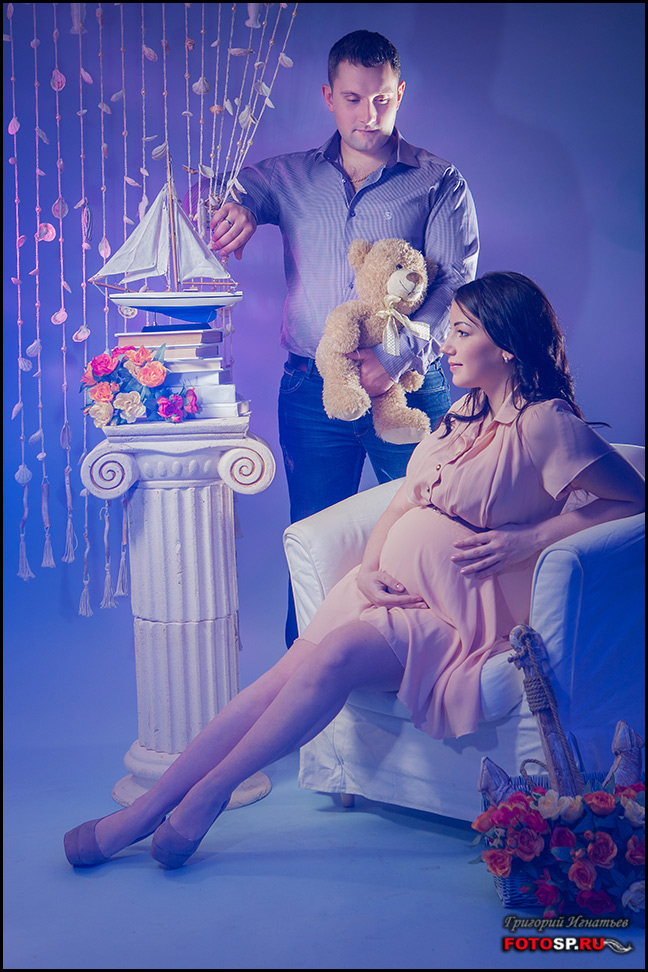 Декорации для фотосессии беременных 52