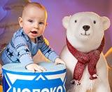 новогодняя фотосессия для грудного ребенка