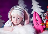 Фотосессия для грудничков - новогодняя история